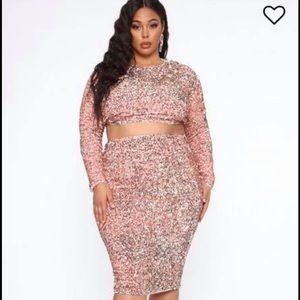 Fashion Nova Skirt and Top set